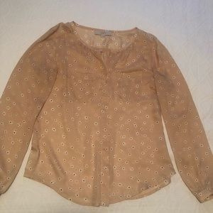 Blush colored blouse from Ann Taylor Loft